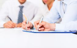 Businesspeople office. Businesspeople group smile working office, business people Stock Images
