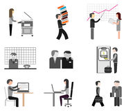 Businesspeople - office icons Royalty Free Stock Photo