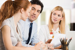 Businesspeople at office Royalty Free Stock Photos