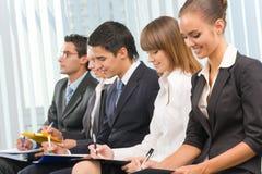 Businesspeople op conferentie stock foto's