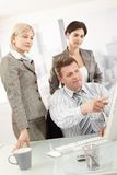 Businesspeople op het werk Royalty-vrije Stock Fotografie