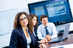 Businesspeople op vergadering Stock Afbeelding