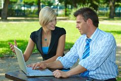 Businesspeople outdoor Royalty Free Stock Photography