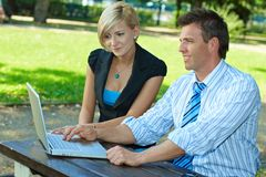 Businesspeople outdoor Stock Images