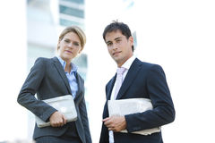 Businesspeople Outdoors Stock Photos