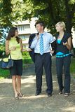 Businesspeople in park Stock Photos