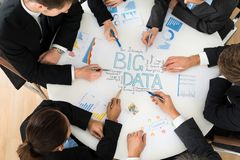 Businesspeople  Planning Bigdata Stock Photos