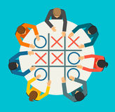 Businesspeople playing Noughts and Crosses Stock Image