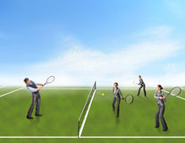 Businesspeople playing tennis Royalty Free Stock Photography