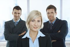 Businesspeople portait stock image