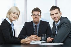 Businesspeople portrait royalty free stock images