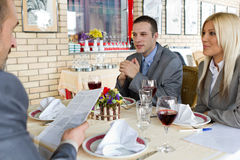 Businesspeople reaching an agreement Stock Images