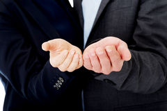Businesspeople reaching their hands Royalty Free Stock Image