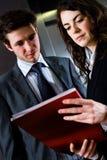 businesspeople reading Στοκ Εικόνα