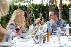 Businesspeople in restaurant Royalty Free Stock Images