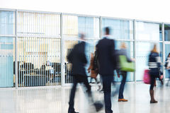 Businesspeople Rushing through Corridor, Motion Blur Stock Photography