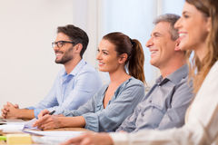 Businesspeople during a seminar Stock Photos