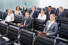 Businesspeople at seminar Royalty Free Stock Photos