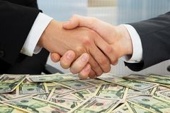 Businesspeople shaking hand royalty free stock images