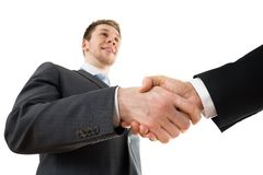 Businesspeople shaking hand Royalty Free Stock Photo