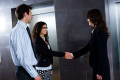 Businesspeople shaking hands Stock Photos