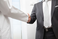 Businesspeople shaking hands Stock Photography