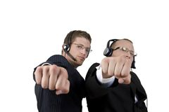 Businesspeople showing punch Stock Image
