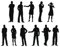 Businesspeople silhouette,. Black silhouette of businesspeople vector illustration