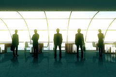 Businesspeople silhouettes Royalty Free Stock Photos