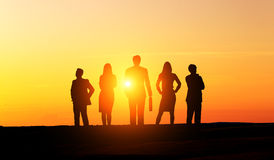 Businesspeople silhouettes Stock Photography