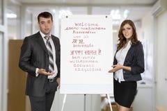 Businesspeople som gör presentation fotografering för bildbyråer