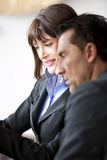 Businesspeople Speaking Friendly Stock Photo