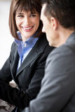 Businesspeople Speaking Friendly Royalty Free Stock Image