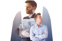 Employment, success, teamwork and work concept Stock Photography