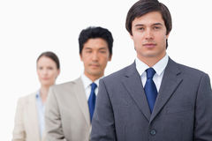 Businesspeople standing in a line Royalty Free Stock Images