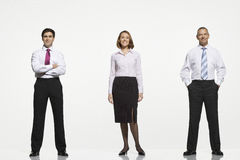 Businesspeople Standing Side By Side Stock Image