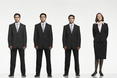Businesspeople Standing Side By Side Stock Images