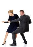 Businesspeople supporting each other Stock Photo