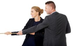 Businesspeople supporting each other Royalty Free Stock Image