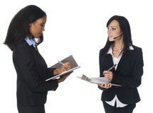 Businesspeople - taking notes Stock Photos