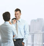 Businesspeople talking Stock Photo