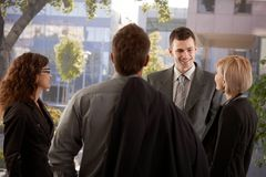 Businesspeople talking outdoor Stock Image