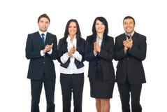 Businesspeople team att applådera Royaltyfria Foton