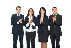 Businesspeople team clapping Royalty Free Stock Photos