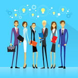 Businesspeople team group idea concept light bulb Stock Images