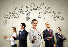 Businesspeople Team Posing Royalty Free Stock Photography