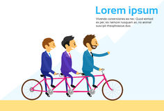 Businesspeople Team Riding Bicycle Tandem Bike Stock Photography