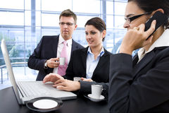Businesspeople teamworking Royalty Free Stock Photos