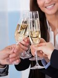 Businesspeople Toasting Champagne Royalty Free Stock Image