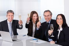 Businesspeople Toasting Champagne Royalty Free Stock Photography